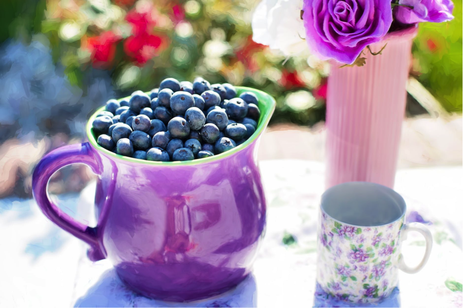 blueberries to relieve stress